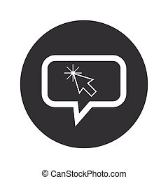 Round arrow cursor dialog icon - Image of arrow cursor in...