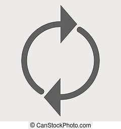 Round arrow icon, reload vector illustration 10