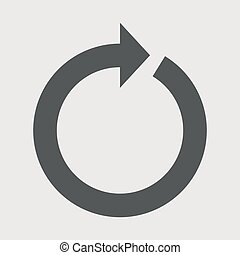 .Round arrow icon reload vector illustration