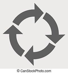 Round arrow icon, reload. vector illustration Eps 10
