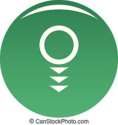 Round arrow icon vector green