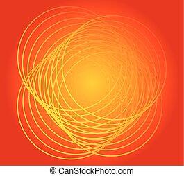 Round Background orange