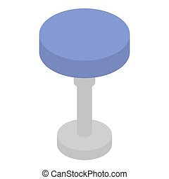 Round backless chair icon. Isometric of round backless chair icon for web design isolated on white background