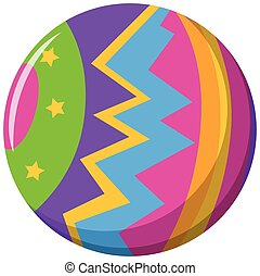 Round ball with color pattern illustration