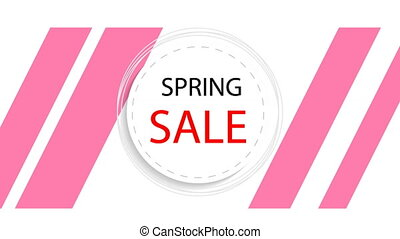 round banner of spring discounts - Round banner of spring...