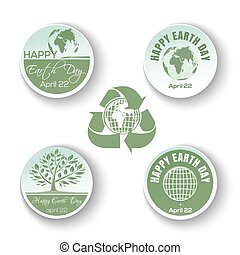 Round banners collection for Earth Day