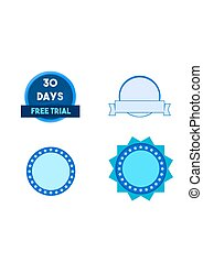 Round banners - Set of round web banners and buttons.