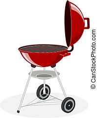 Round barbecue grill