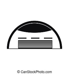 Round barn icon, simple style