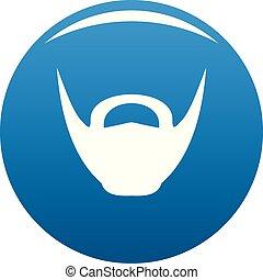 Round beard icon blue vector