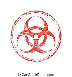 Round Biohazard Symbol Stamp