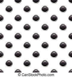 Round black button pattern