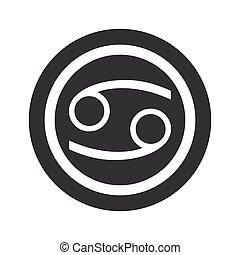Round black Cancer sign