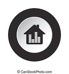 round black, white button-house with equalizer icon