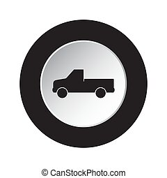 round black, white button - pickup with a flatbed