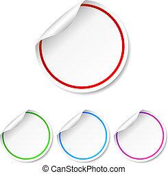 Round blank label stickers set