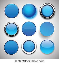 Round blue icons.