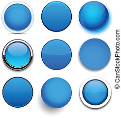 Round blue icons.
