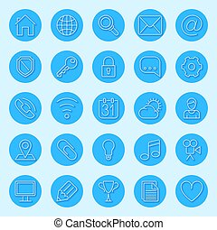 Round Blue Web Icons