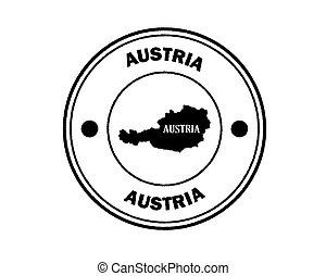 round blurred stamp of austria