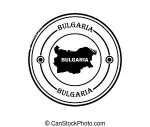 round blurred stamp of bulgaria
