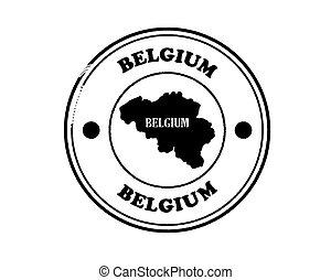 round blushed belgium stamp