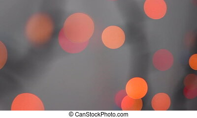 Round Bokeh In Red And Orange Color