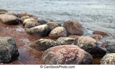 Round Boulders on the riverbank