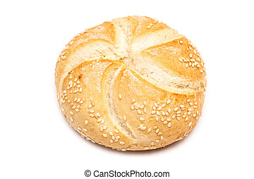 Round Bread Isolated