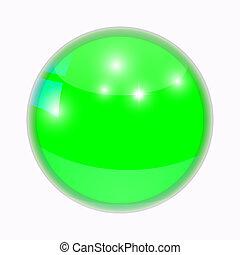 Round bright button.