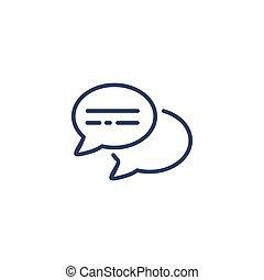 Round bubble speech icon isolated on white background