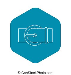 Round buckle icon, outline style