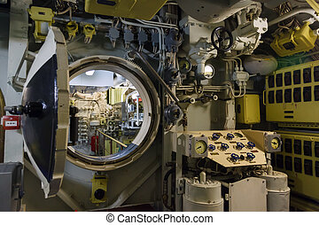 Round bulkhead door on a submarine photo