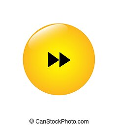 Round bulky button with right arrow icon.