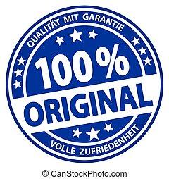 round business button - 100% original (german)