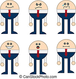 Round Business Character Expression