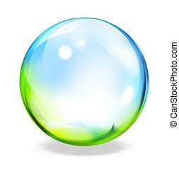 round button - green cyan  - round button - green cyan