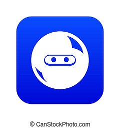 Round button icon blue