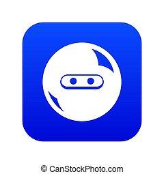 Round button icon blue