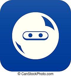 Round button icon blue vector