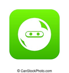 Round button icon green
