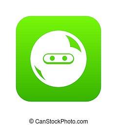Round button icon green