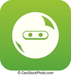 Round button icon green vector