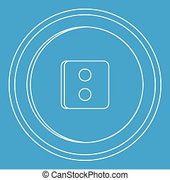 Round button icon, outline style
