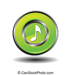 Round button music vector
