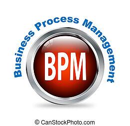 Round button of business process management - bpm