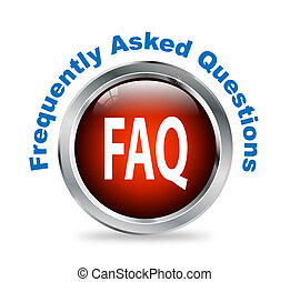 Round button of frequently asked questions - faq -...