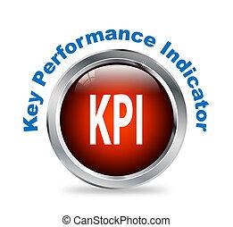 Round button of Key Performance Indicator - kpi