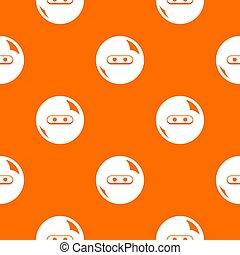 Round button pattern orange