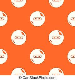 Round button pattern vector orange